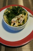 Spinat Shrimps Fritatta